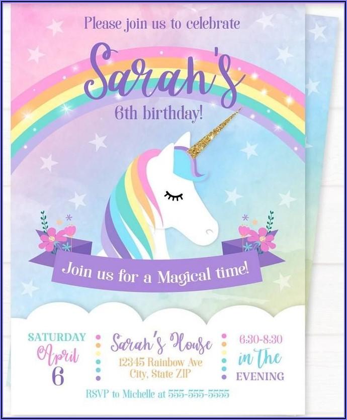 Free Printable Rainbow Birthday Invitations