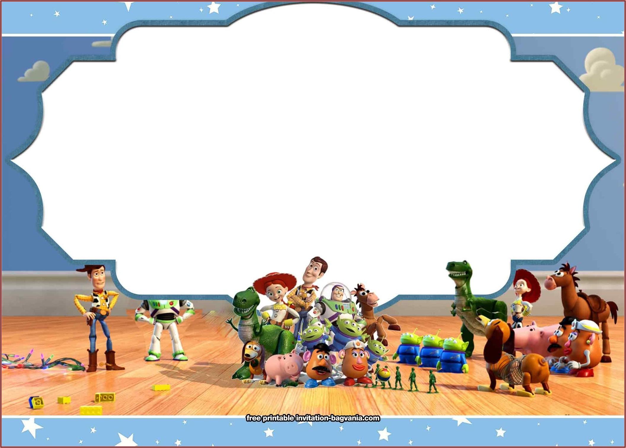 Free Printable Toy Story 4 Birthday Invitations