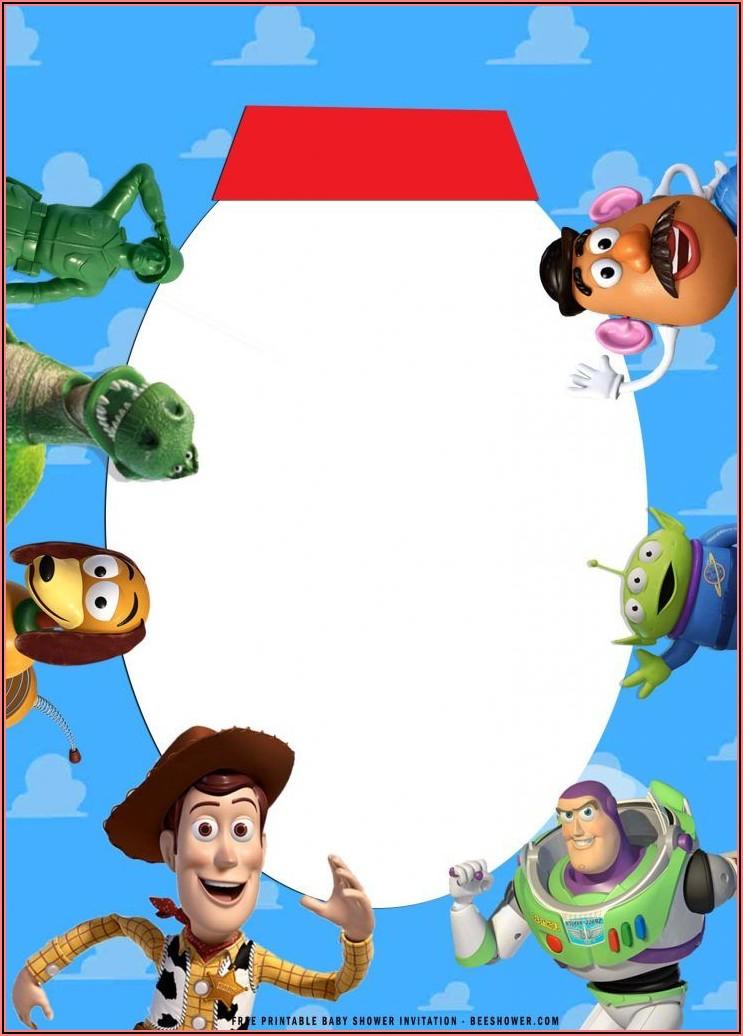 Free Printable Toy Story Birthday Invitation Templates