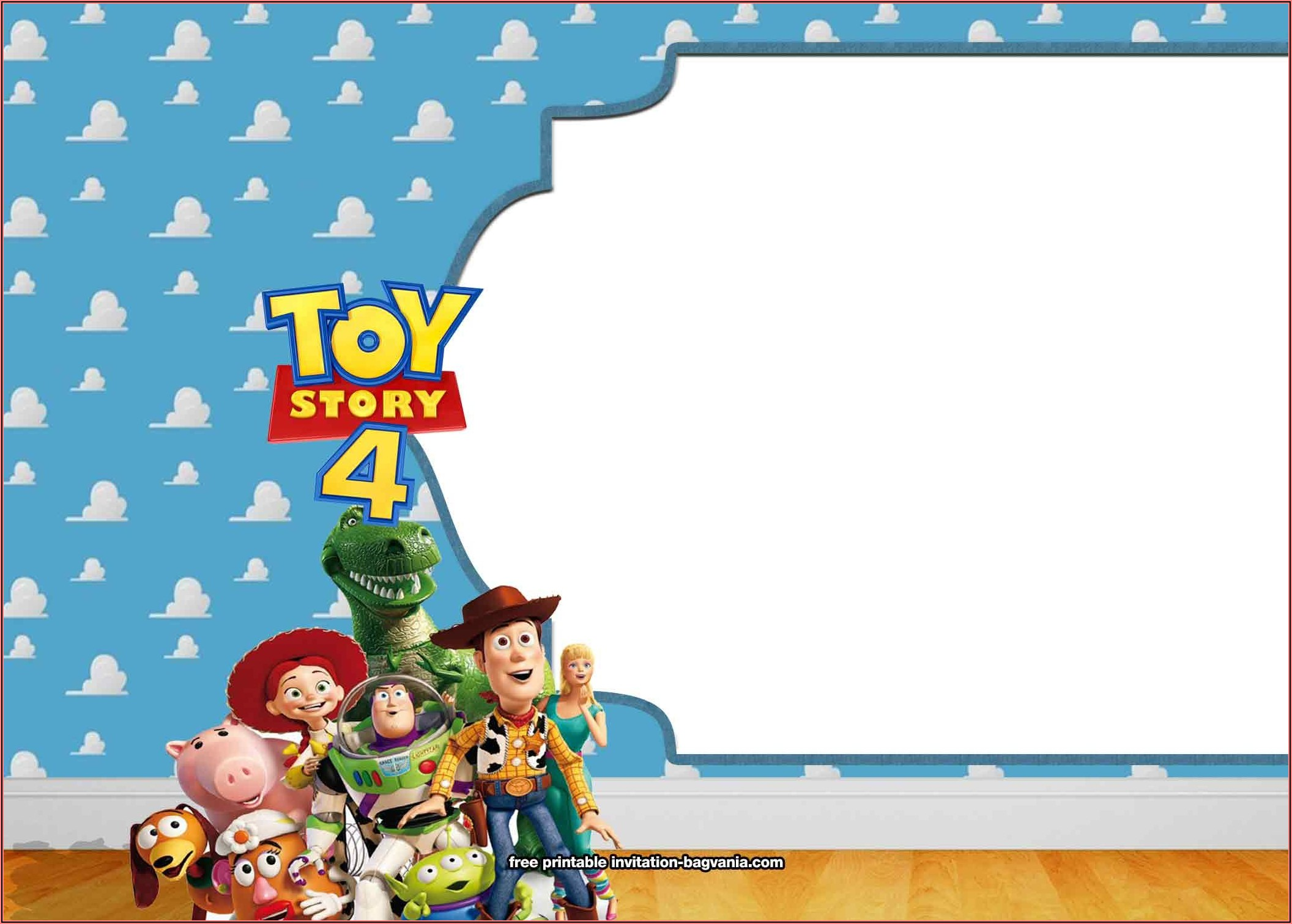 Free Printable Toy Story Birthday Invitations