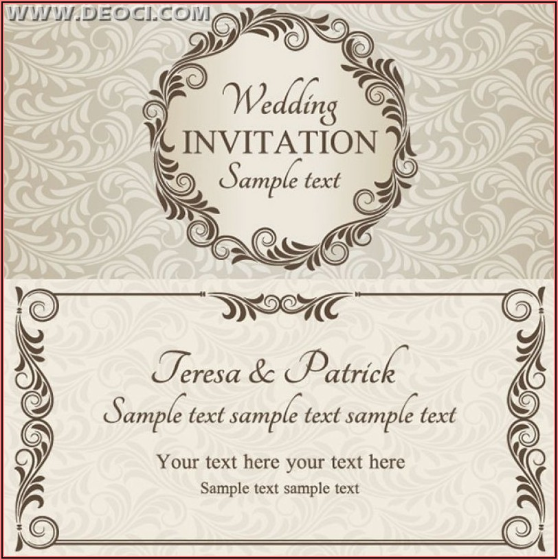 Free Wedding Invitation Design Templates