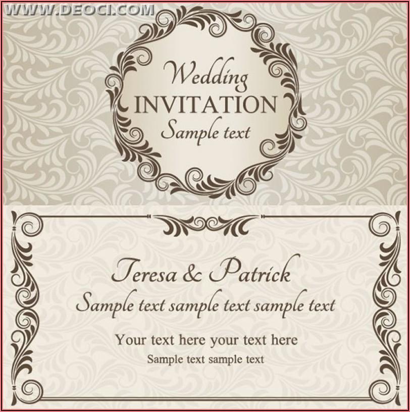 Free Wedding Invitation Design Templates