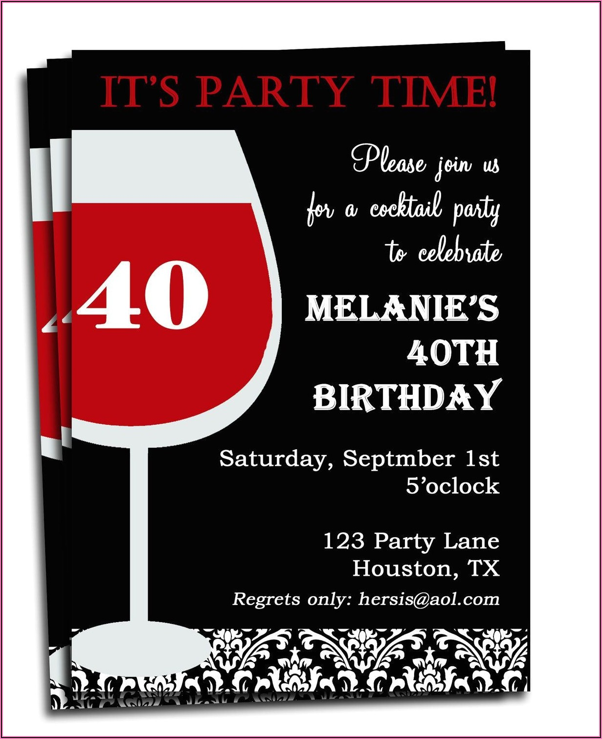 Funny Birthday Invitation Wording For Adults