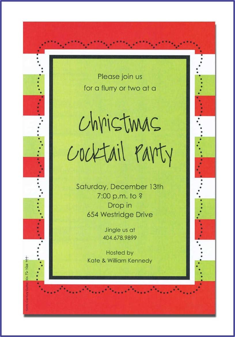 Funny Holiday Potluck Invitation Wording