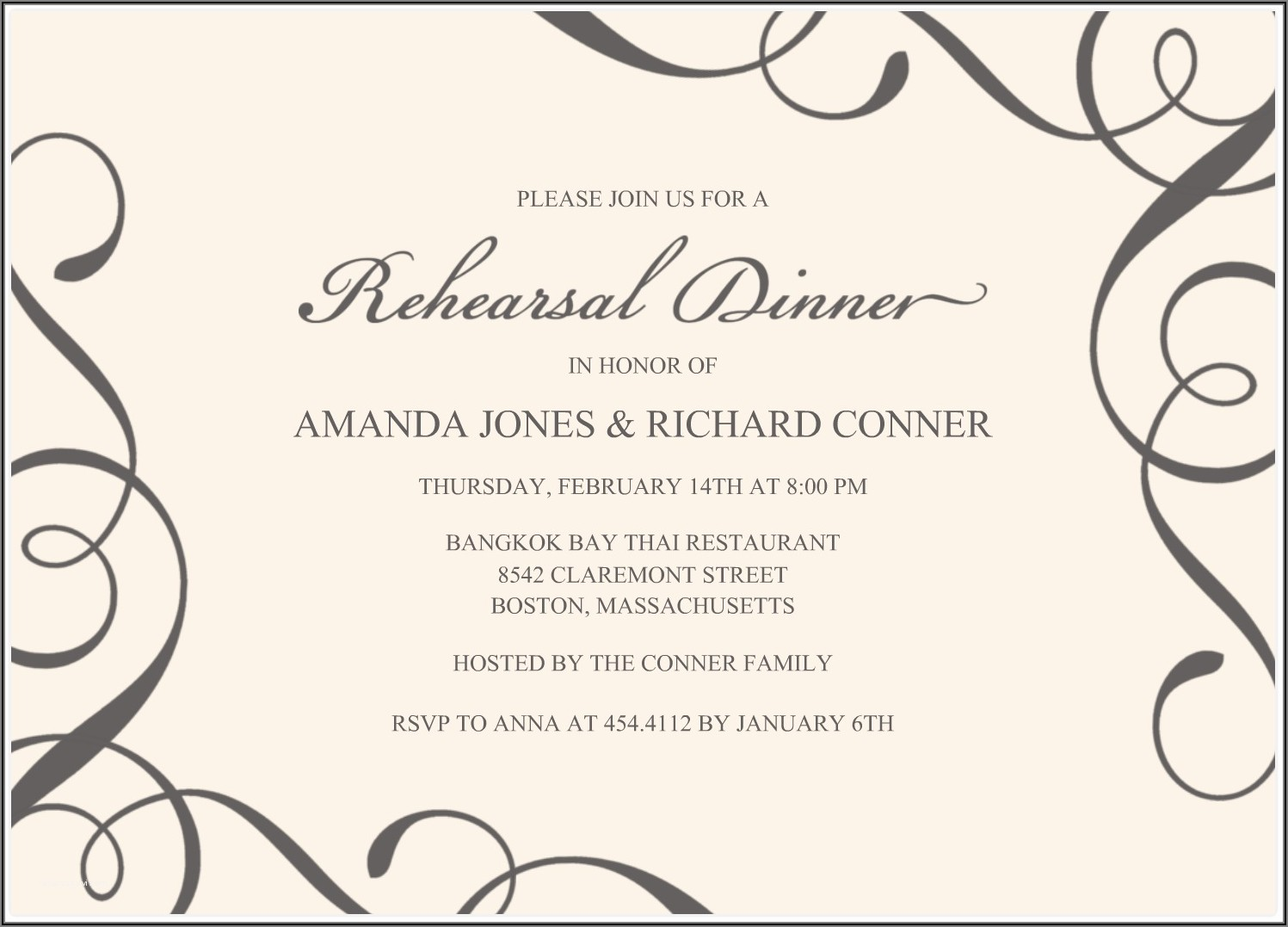Gala Dinner Invitation Email Template