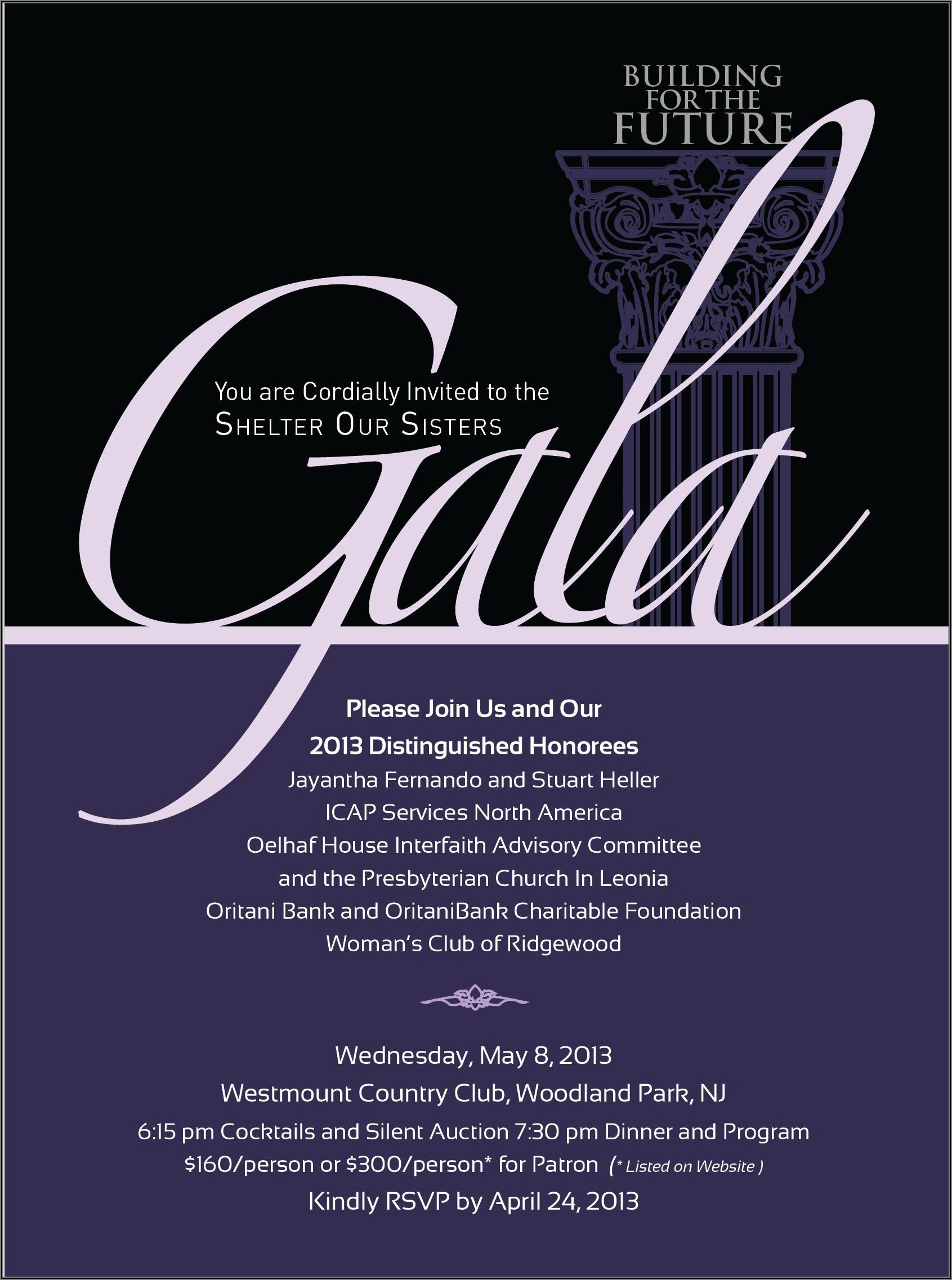 Gala Dinner Invitation Template Free Download