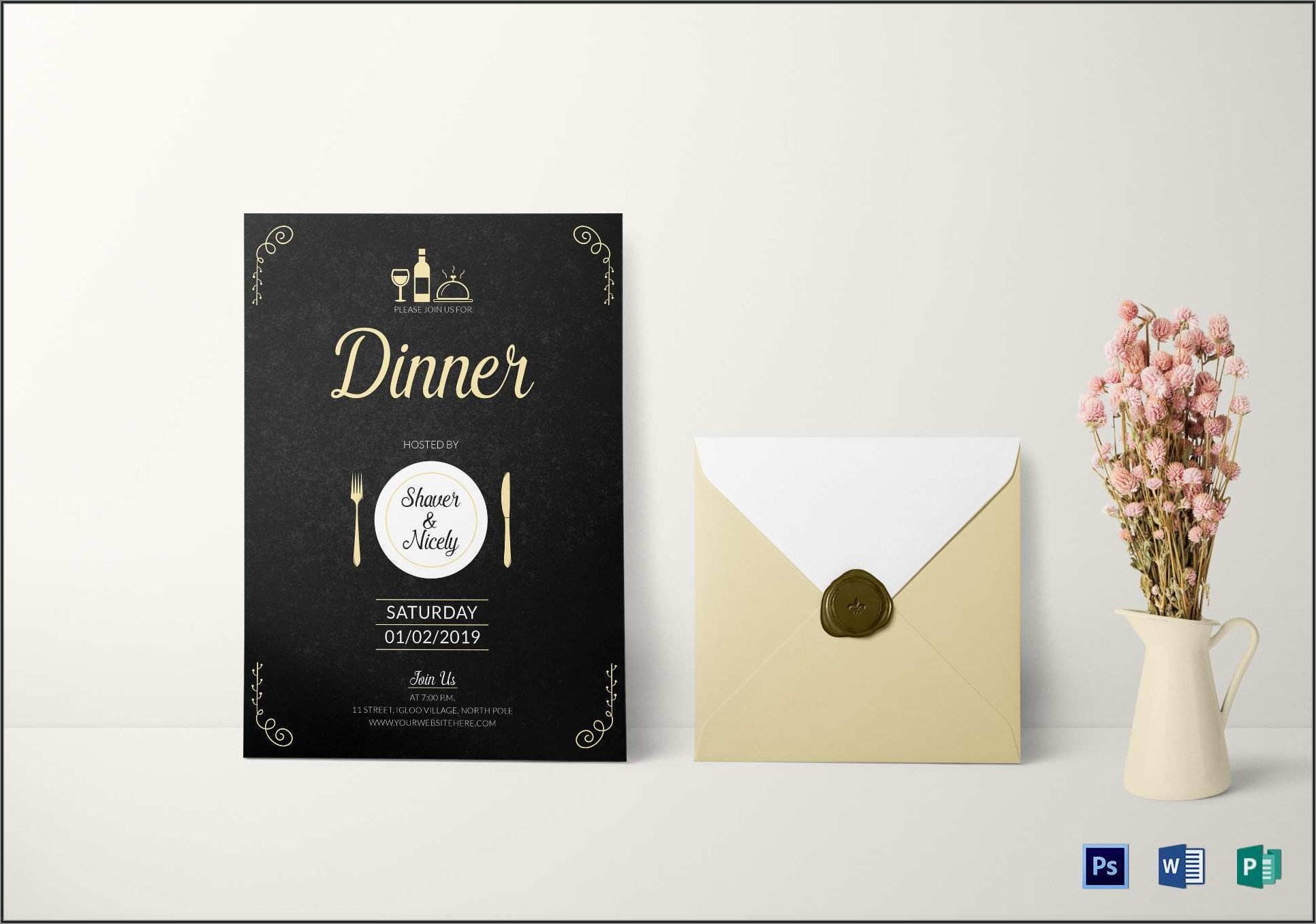 Gala Dinner Invitation Template Psd