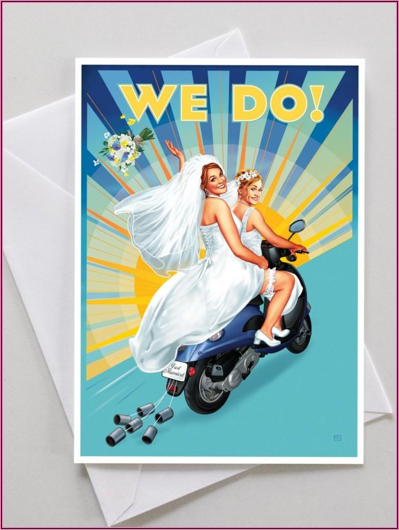Gay Wedding Invitation Templates