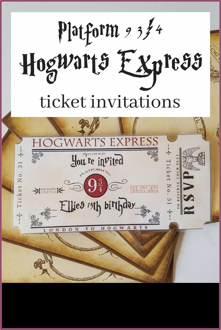 Harry Potter Printable Invitation Templates