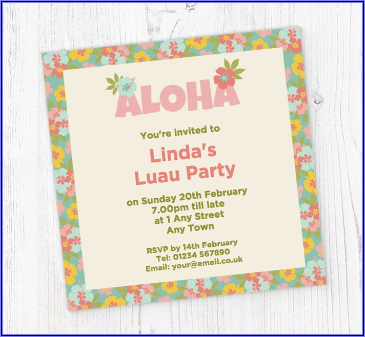 Hawaiian Birthday Invitations Online