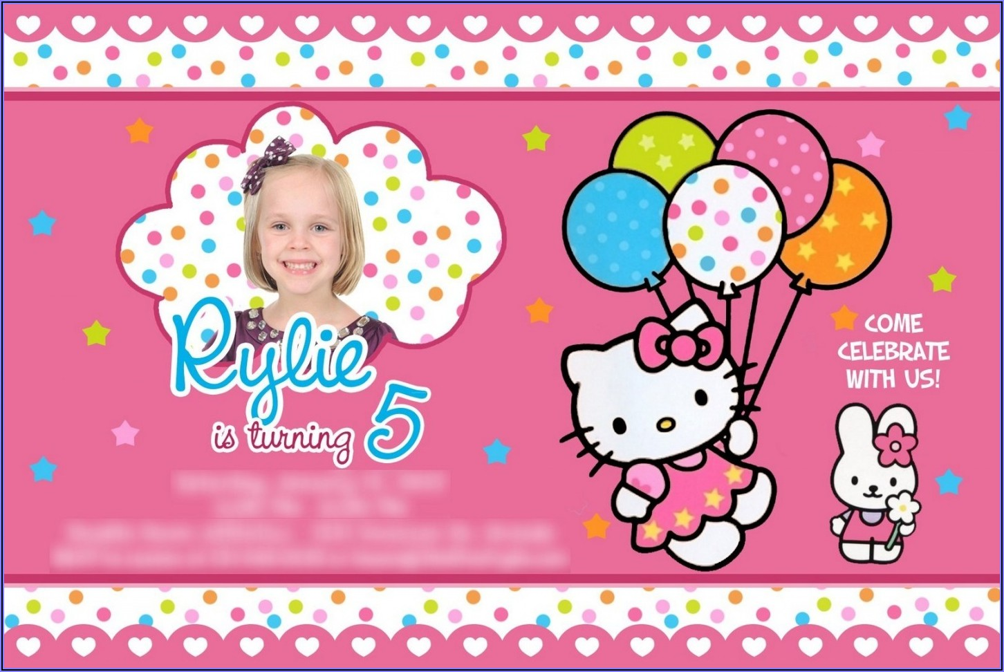 Hello Kitty Birthday Invitation Background