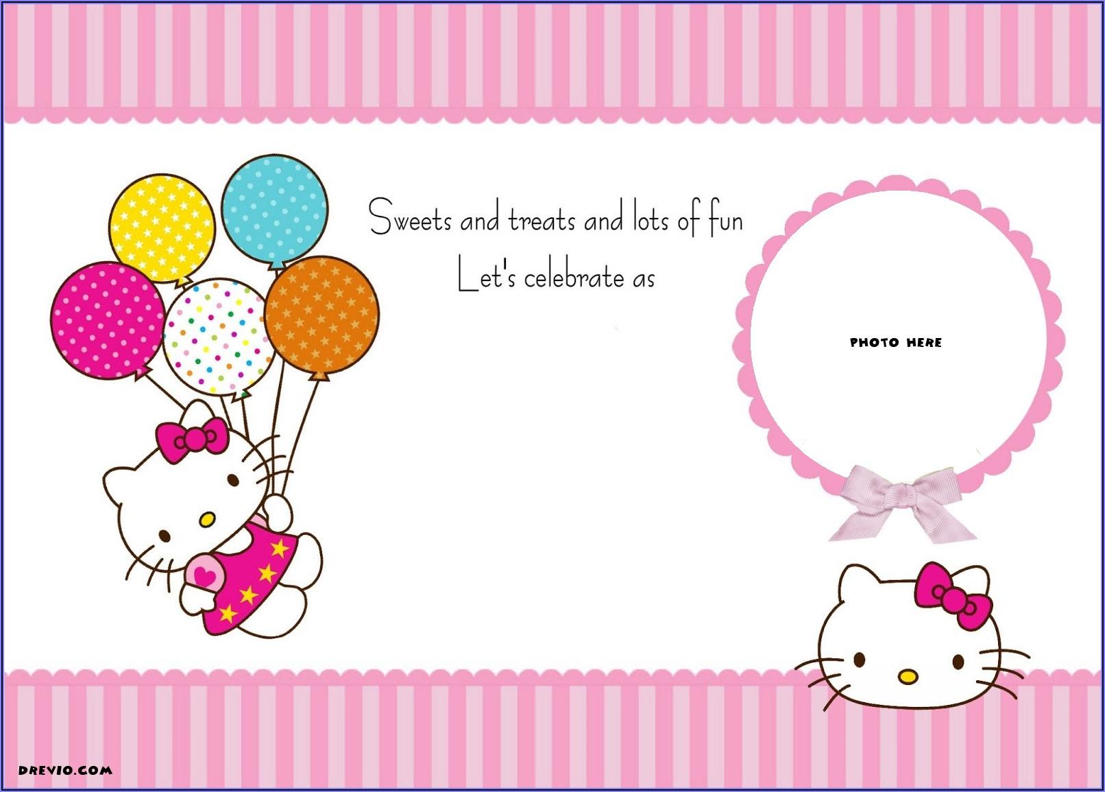 Hello Kitty Birthday Invitation Layout