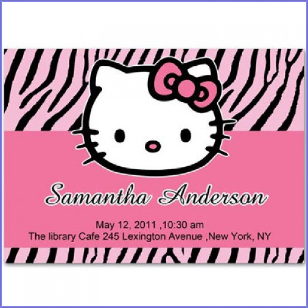 Hello Kitty Invitation Background
