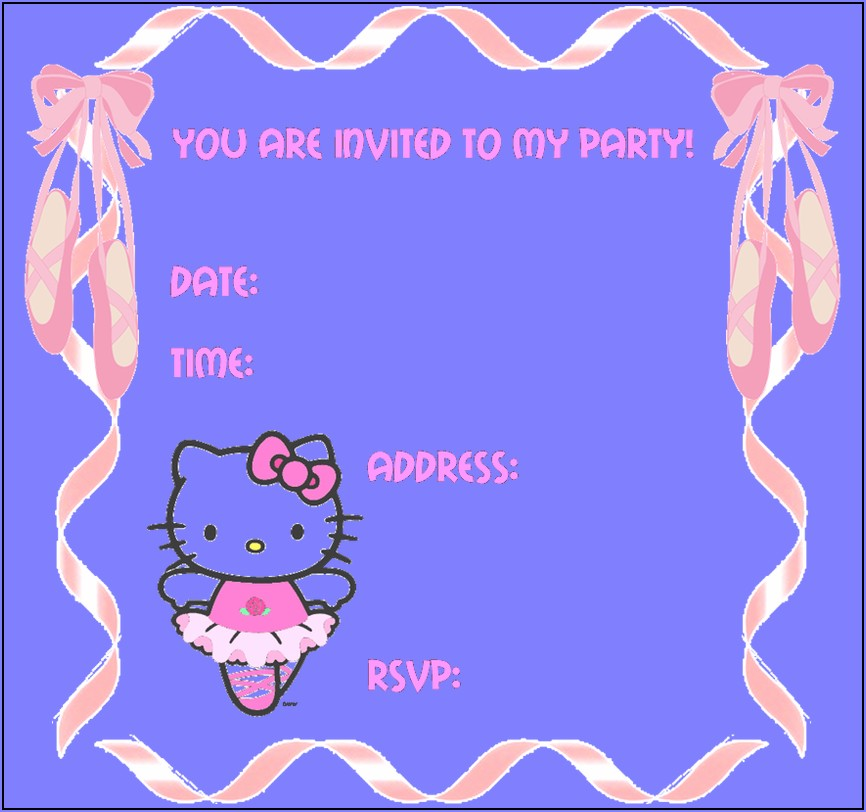 Hello Kitty Invitation Card Maker