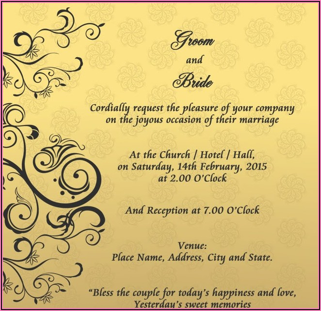 Hindu Marriage Invitation Letter