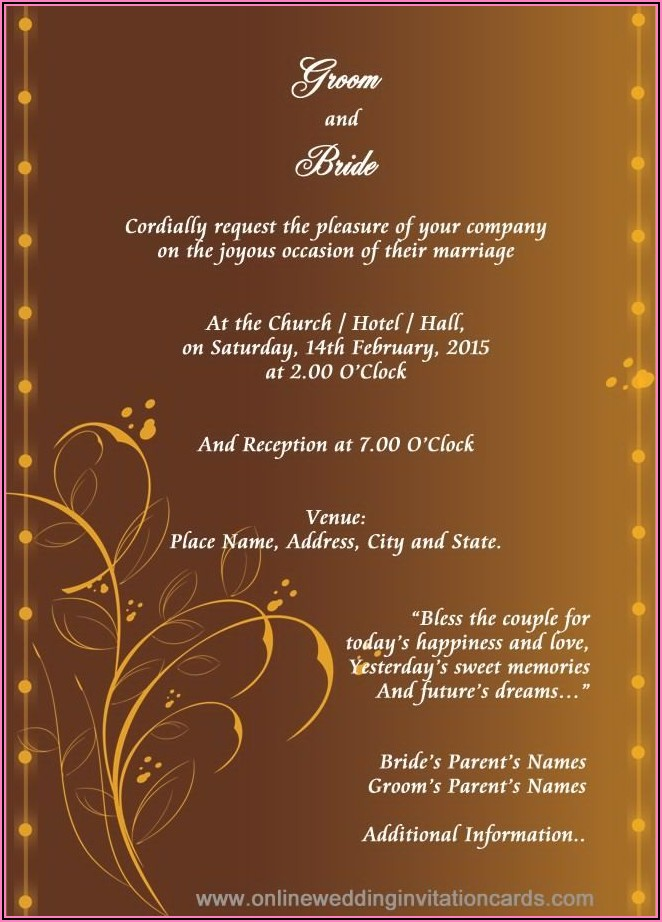 Hindu Wedding Invitation Background Hd