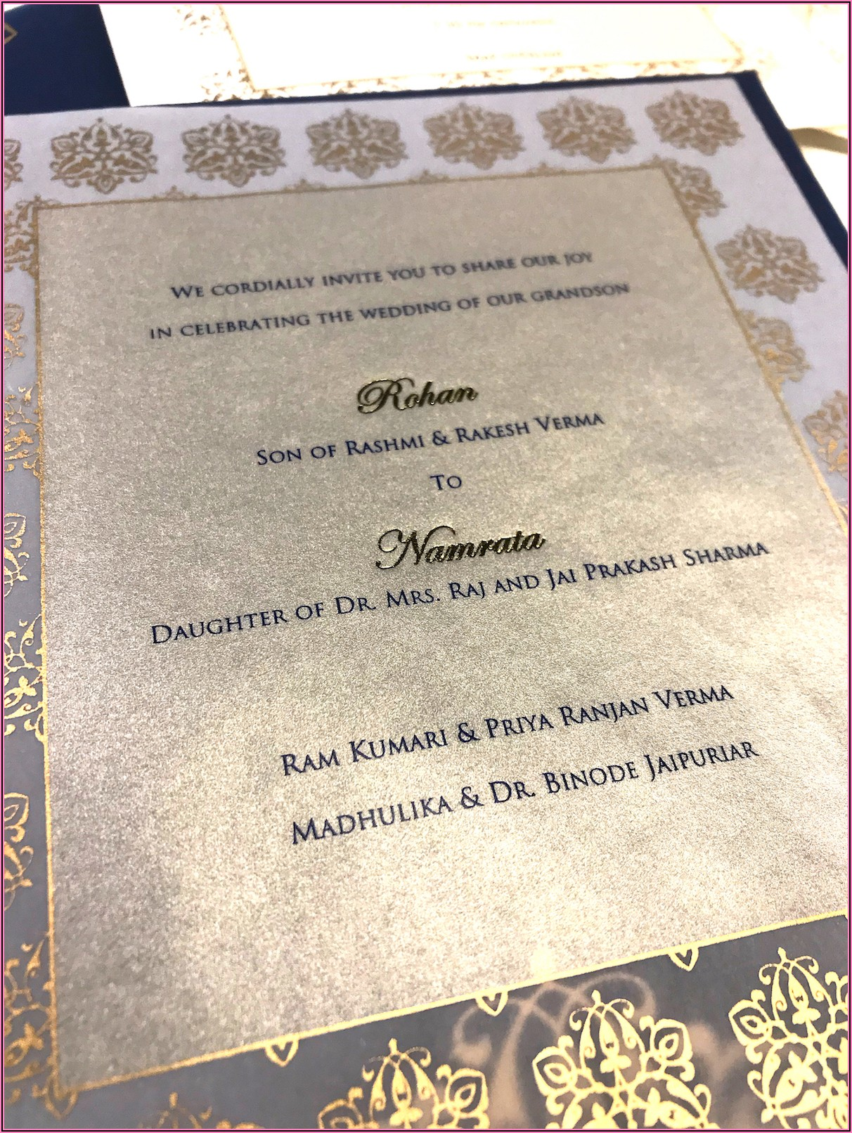 Hindu Wedding Invitation Card Content