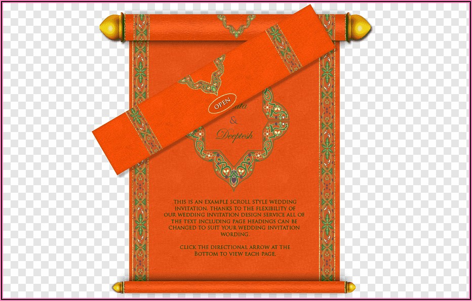 Hindu Wedding Invitation Card Design