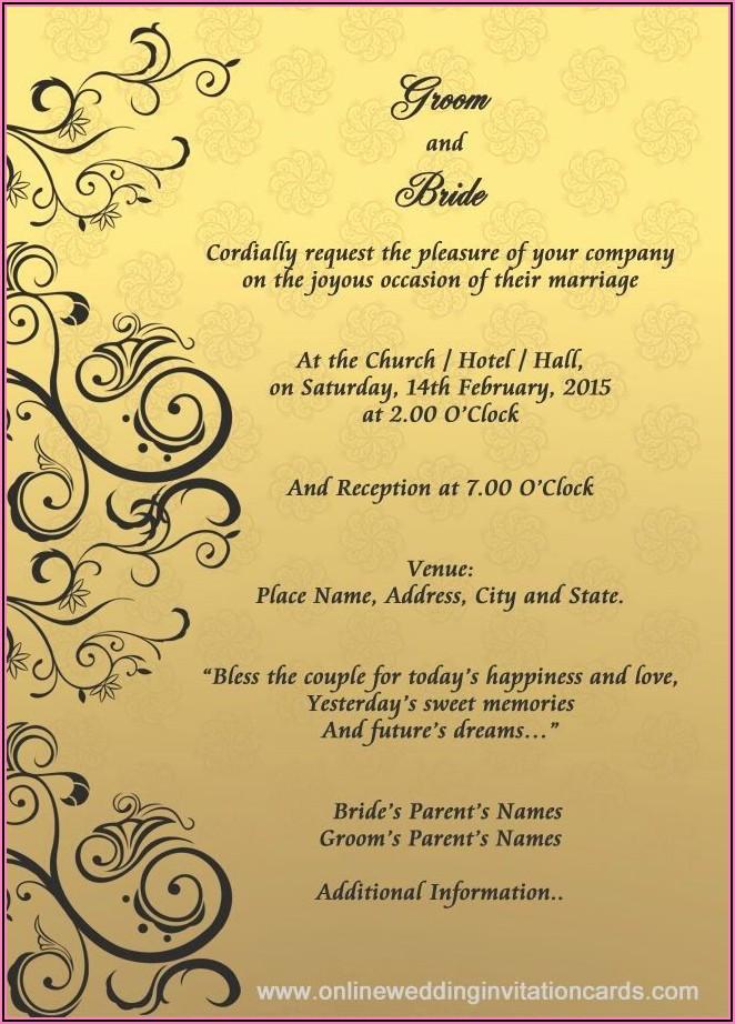 Hindu Wedding Invitation Card Template Editable