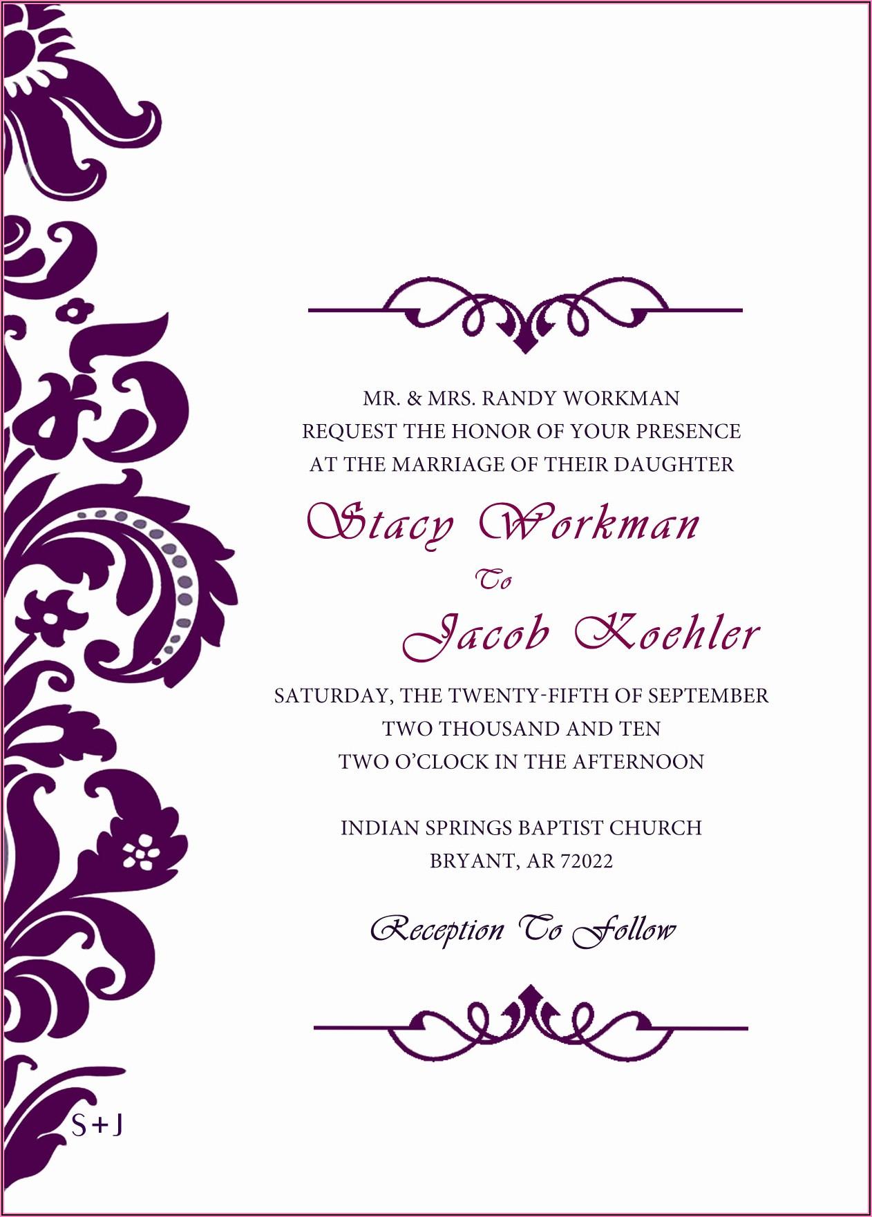 Hindu Wedding Invitation Templates Psd