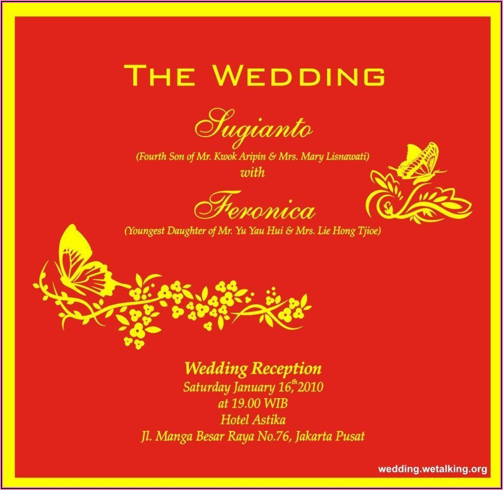 Hindu Wedding Invitation Wording In English