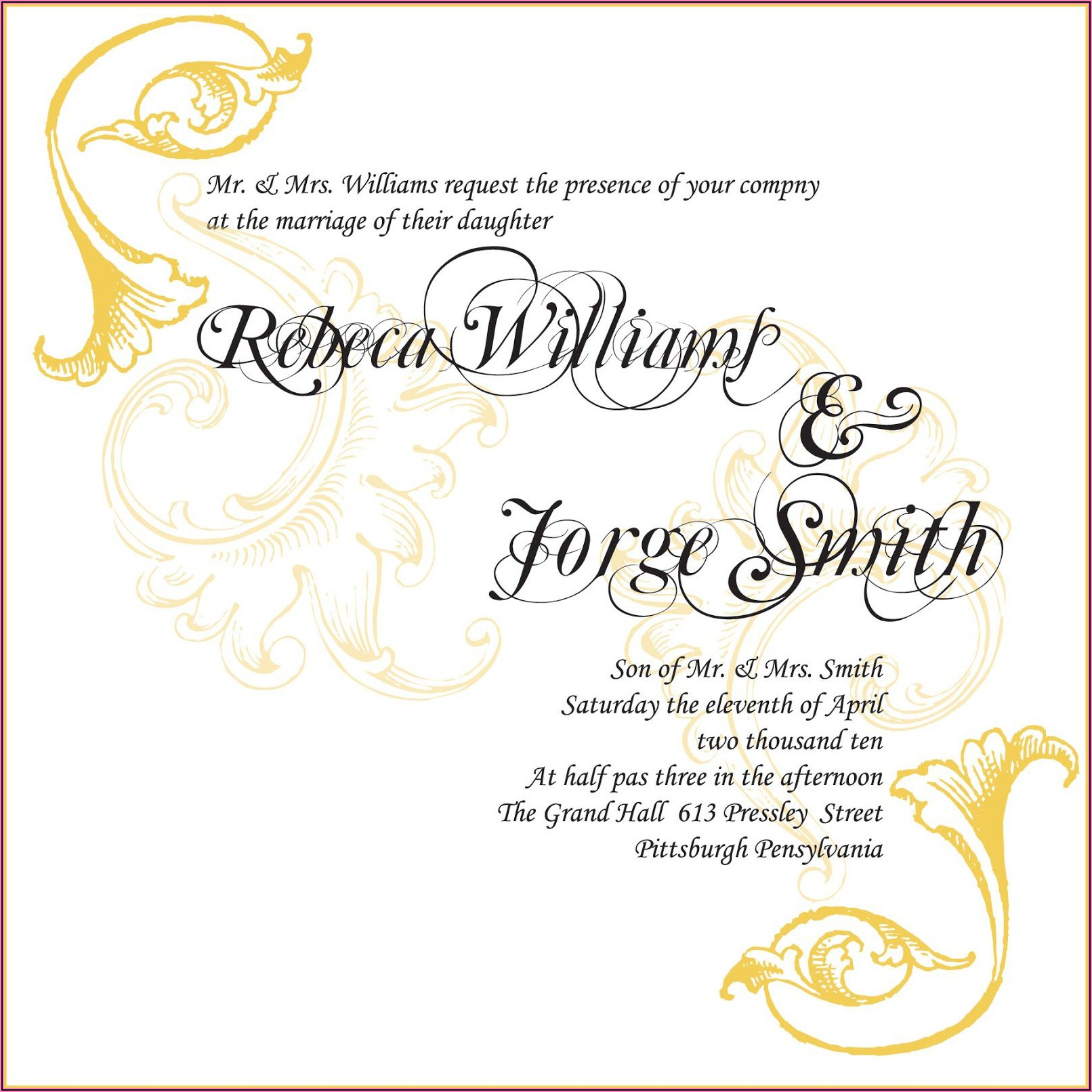 Hindu Wedding Invitation Wording Samples