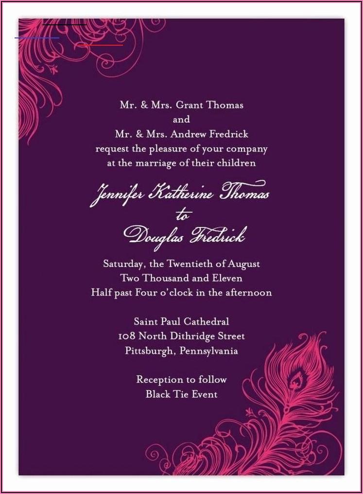 Hindu Wedding Invitation Wording