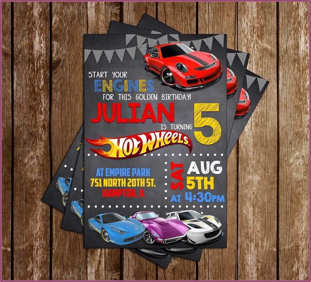 Hot Wheels Birthday Invitation Free