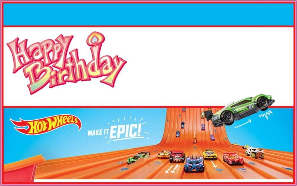 Hot Wheels Party Invitation Free Printable