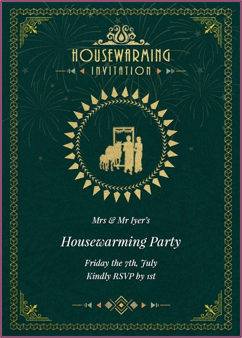 Housewarming Invitation Format India
