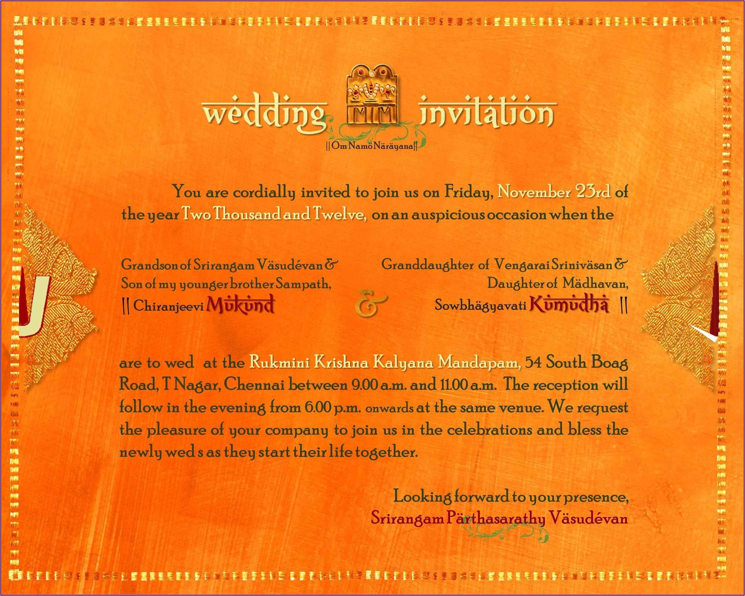 Housewarming Invitation Wording Samples In Tamil