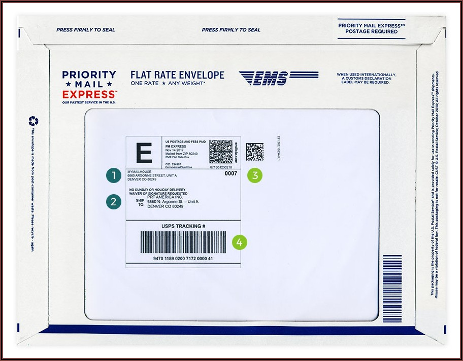 How To Fill Out Usps Priority Mail Express Envelope