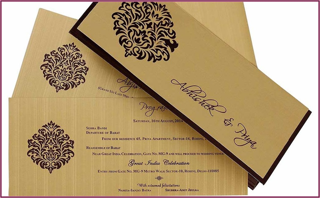 Indian Wedding Invitation Card Design Online Free