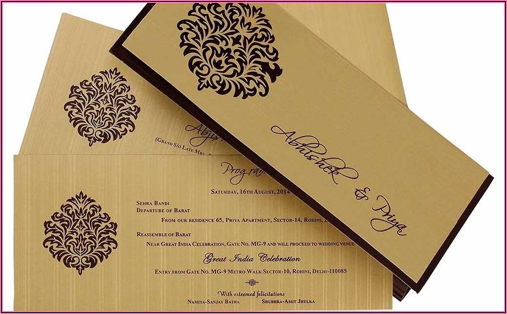 Indian Wedding Invitation Card Design Online Free
