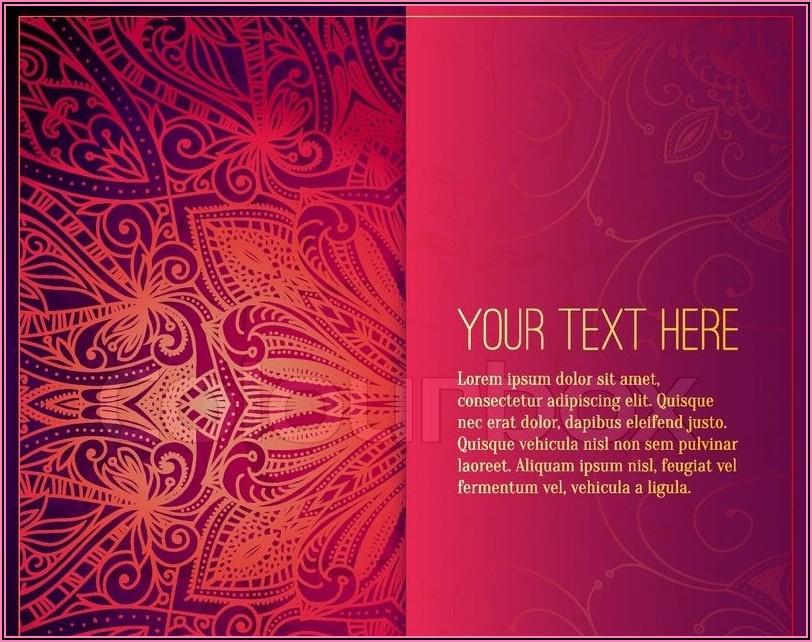 Indian Wedding Invitation Card Template Psd