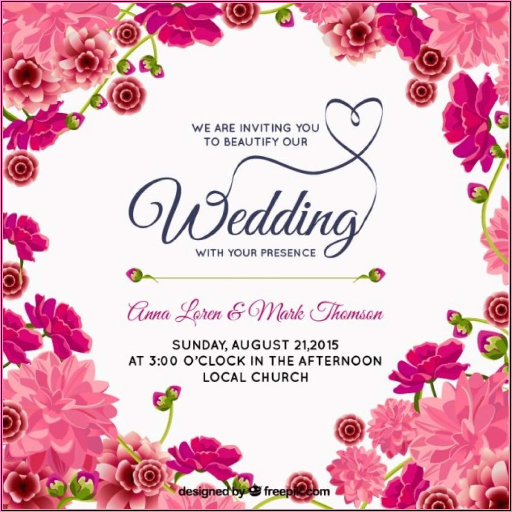 Indian Wedding Invitation Templates Free Download