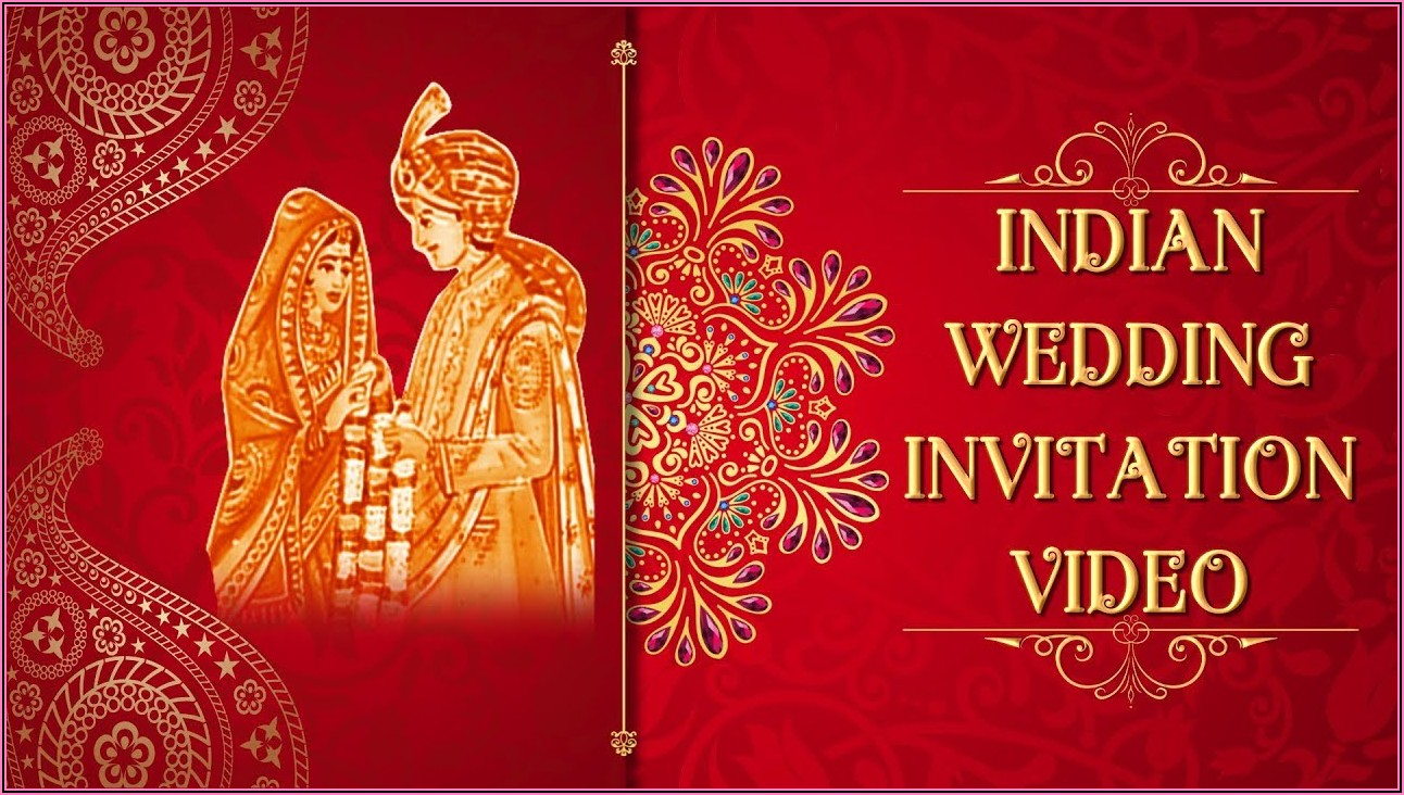Indian Wedding Invitation Templates Video