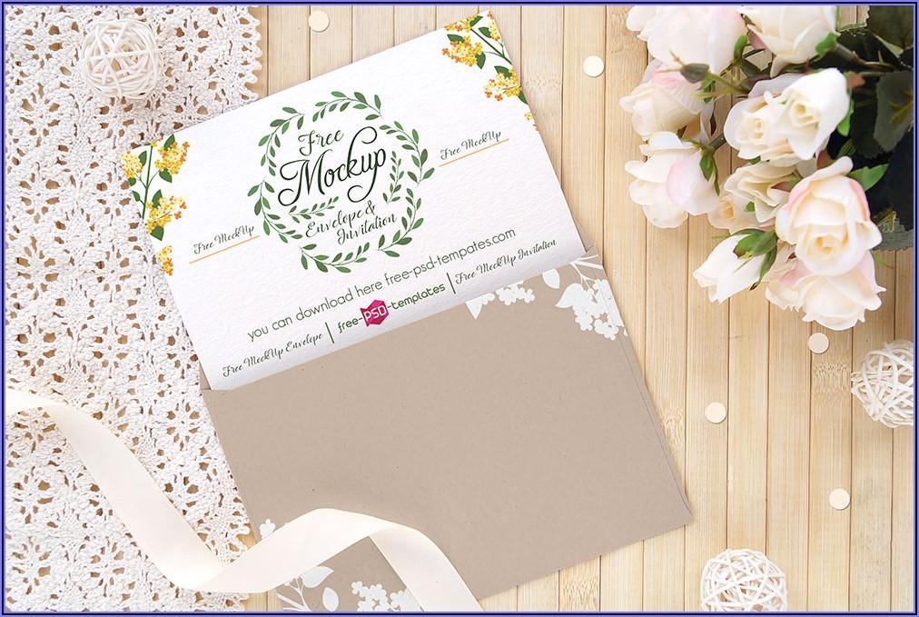 Invitation Card Mockup Psd Free Download