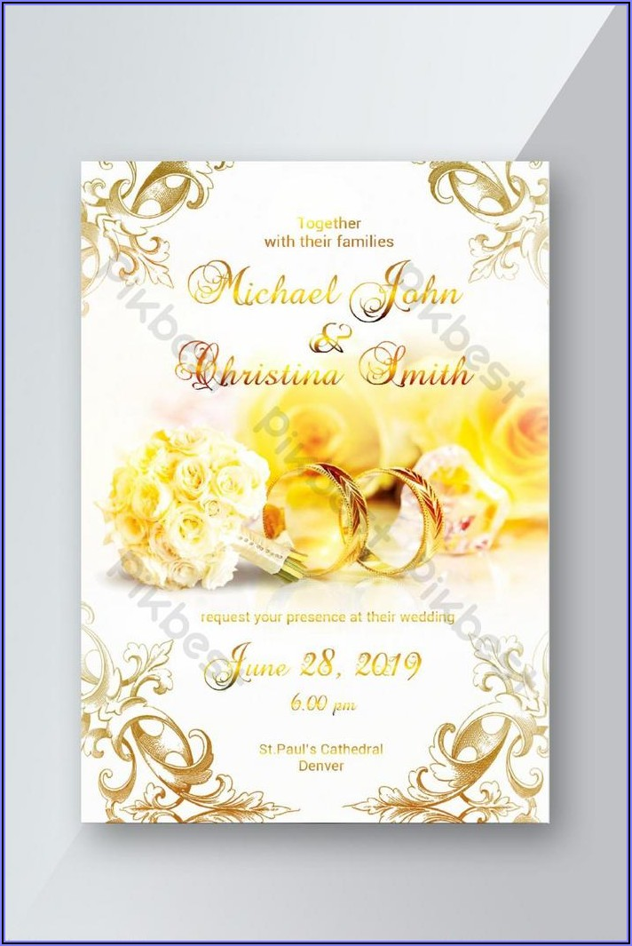 Invitation Card Psd Free Download