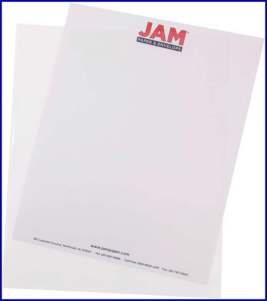 Jam Paper And Envelope Poly Sleeves