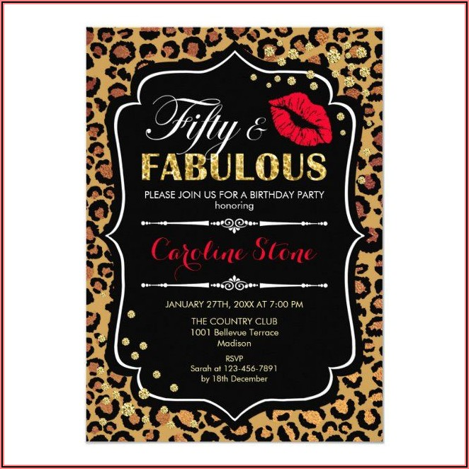 Leopard Print Birthday Invitations