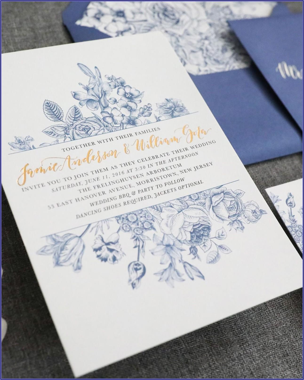 Light Blue Wedding Invitation Templates