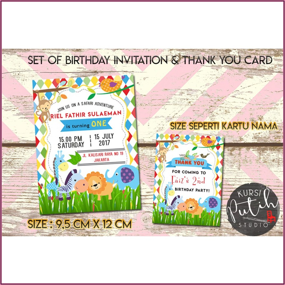 Lion King Birthday Invitation Card