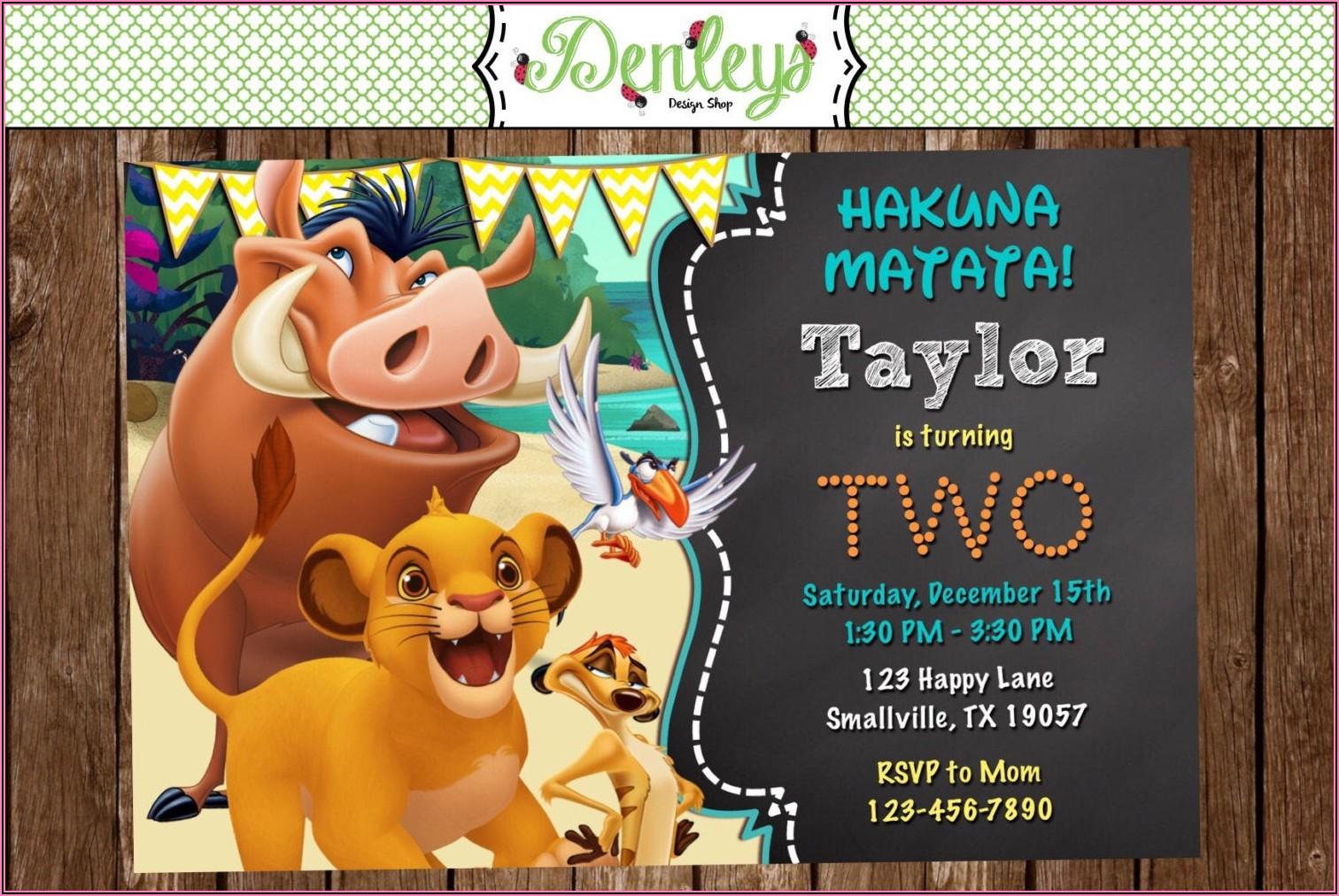 Lion King Birthday Invitations Free