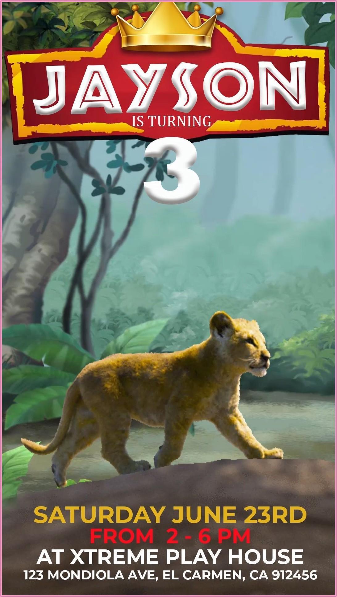Lion King Invitations Birthdays
