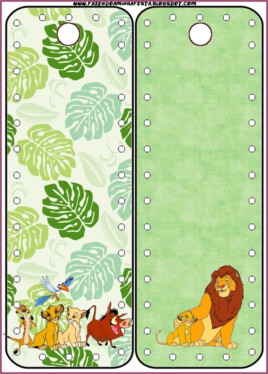 Lion King Party Invitations Free