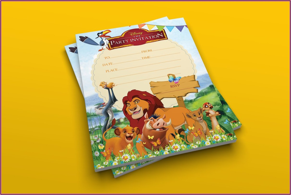 Lion King Party Invitations Uk