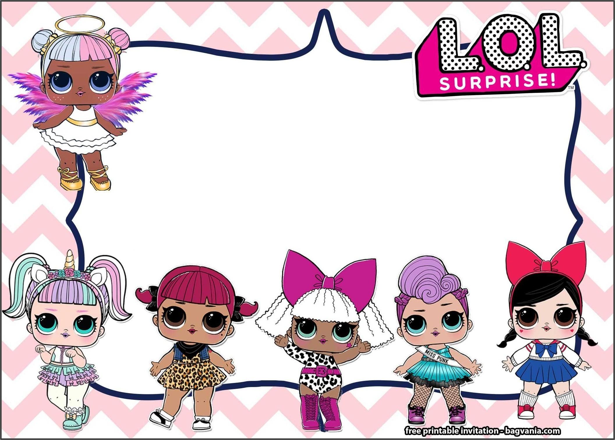 Lol Doll Birthday Invitations Free