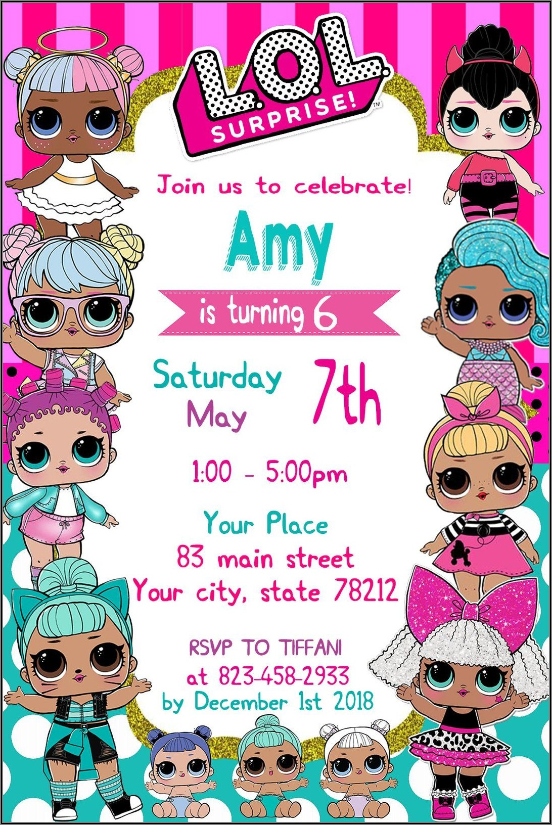 Lol Doll Free Printable Invitations