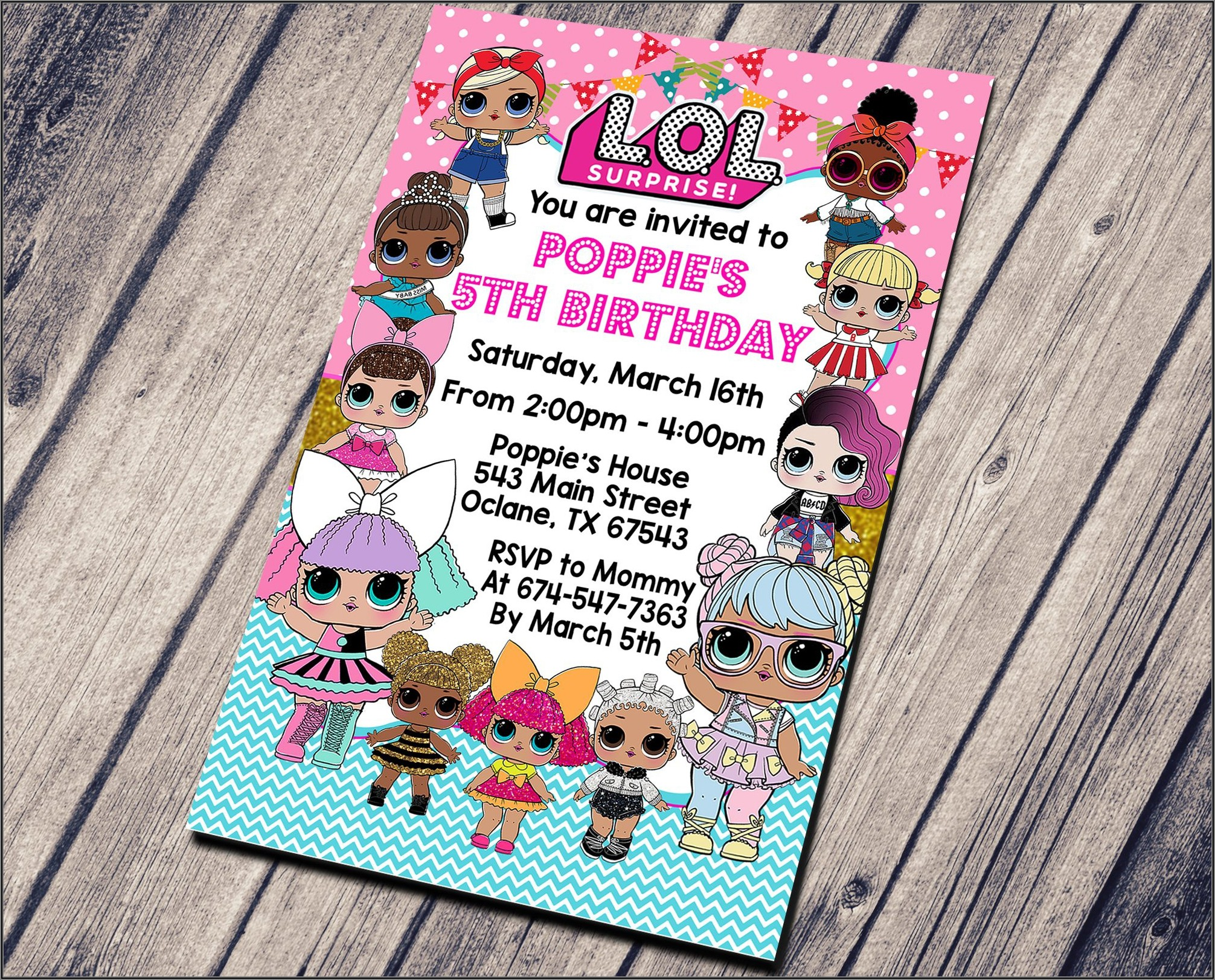 Lol Surprise Doll Free Invitations